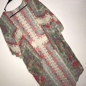 LUSH boho floral print Kimono